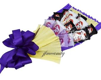 KITKAT Candy Bouquet (White Chocolate & Dark Chocolate)