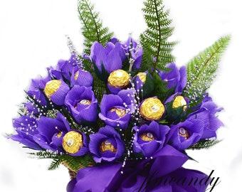 Elegant Candy Bouquet- Ferrero Rocher Chocolate Basket
