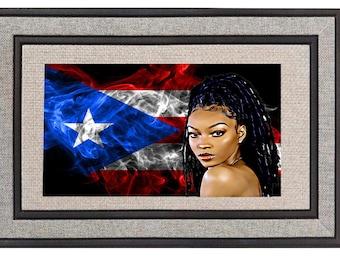 Puerto Rican Flag Doormat