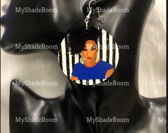 Power Woman Blue Earrings