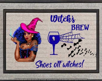 Halloween Witch Doormat Take Off Your Shoes Witches