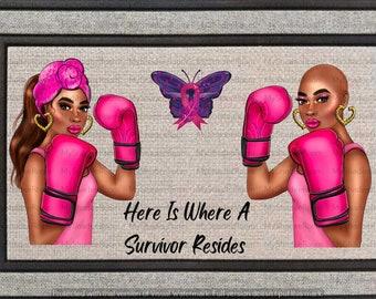 Breast Cancer Survivor Doormat