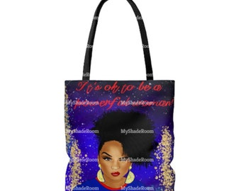 Blue Tote Bag It's ok to Be a Powerful  Woman