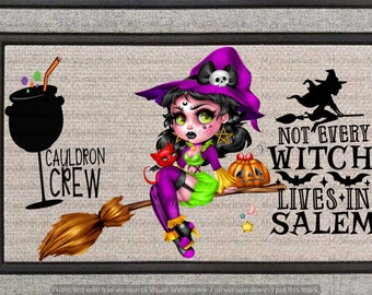 Not Every Witch Lives in Salem Halloween Doormat