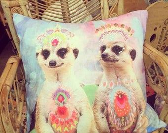 Carnivale Meerkats cushion