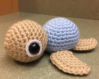 Crochet Sea Turtle, Blue Sea Turtle Plush, Amigurumi Sea Turtle, Amigurumi Turtle, Crochet Turtle, Turtle Plush, Handmade Stuffed Animal