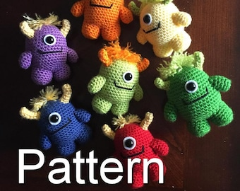 Little Monster Crochet Pattern, Amigurumi Monster, Amigurumi Pattern, Crochet Monster, Crochet Pattern, Craft, Amigurumi, Monster Plush