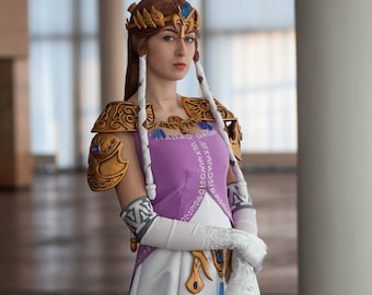 Goddess Hylia Cosplay Costume From The Legend Of Zelda Etsy