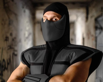 Noob Saibot cosplay costume from The Ultimate Mortal Kombat 3, ninja outfit Halloween costume