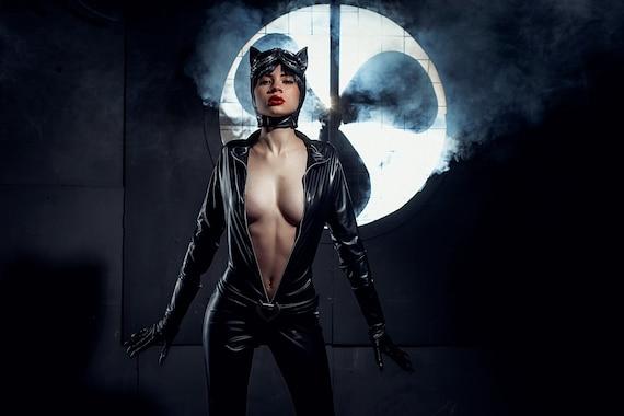 catwoman kostum dc comics halloween katze frau kostum