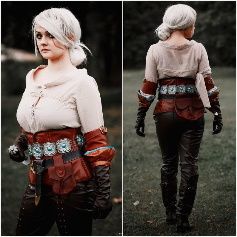 Halloween costume, Ciri cosplay costume,The Witcher 3: Wild Hunt,Cirilla,  Witcher 3 video game character, Fiona Elen Riannon