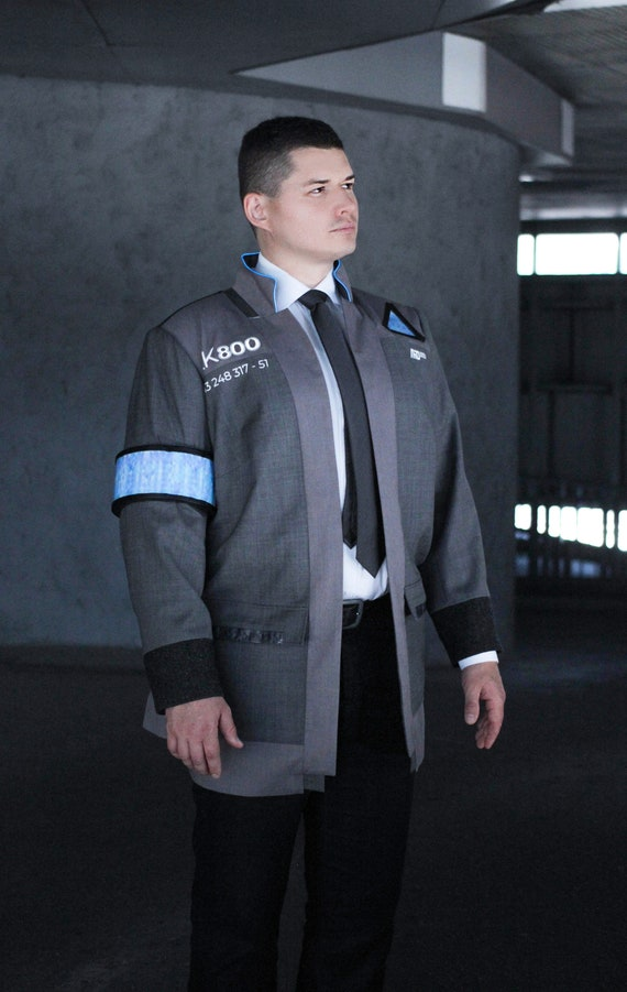 Detroit Become Human Connor Cosplay Led Jacket Connor Etsy