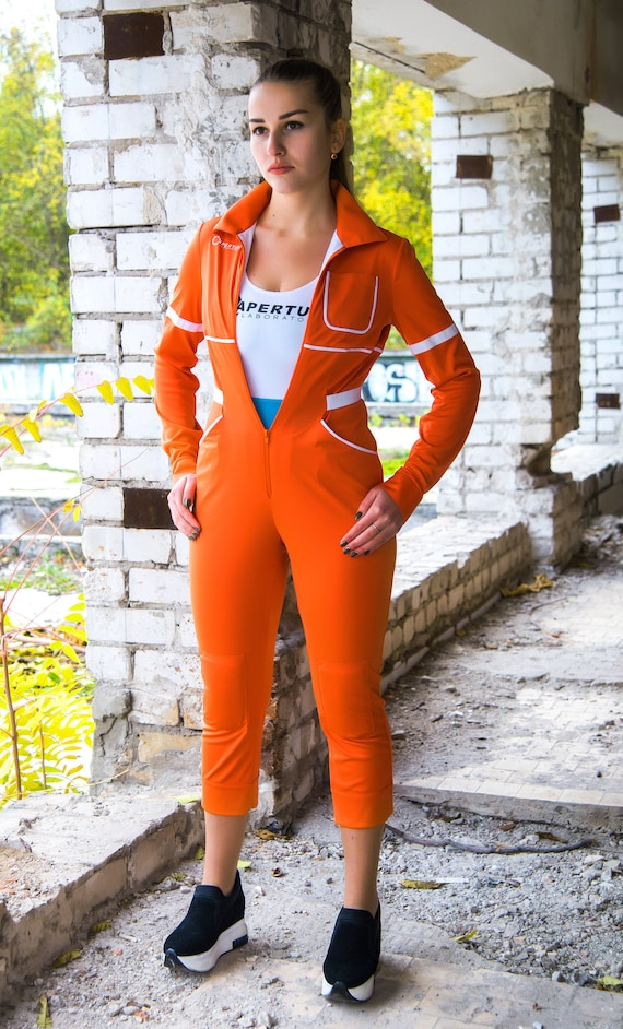 Chell Cosplay Portal Video Game By Valve Clothing Aperture Science Bodysuit Costume