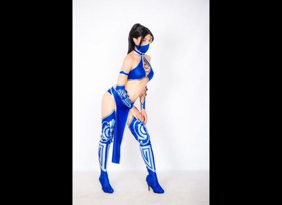 sc 1 st  Etsy & Kitana cosplay costume Mortal kombat Halloween costume the