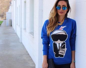 Karl Who Sweatshirt - Pre Order , Karl Lagerfeld Sweatshirt, Karl Lagerfeld Sweater, Karl Lagerfeld, Karl Who Sweater, Chanel Sweatshirt