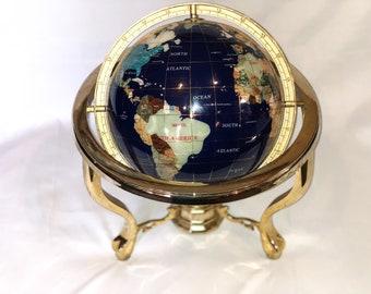 World Globe With Compass