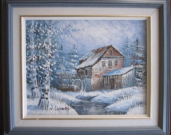 A beautiful oil on board by Canadian artist WILLIAM CONWAY signed