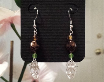 Handmade fall leaf earrings