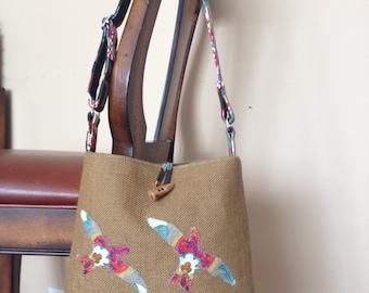 Designer Burlap Handbag 2
