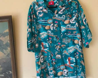 2188dfe0e Vintage 90s Miami Dolphins Button Down