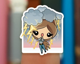 Thunderstorm stickers / Thunder stickers / Storm stickers / Planner Stickers / JOP649