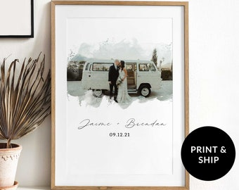 Custom Watercolor Portrait, Sketch From Photo, Drawing From Photo, Personalized Birthday Gift, Christmas Gift, Wedding Gift, Couple Gift