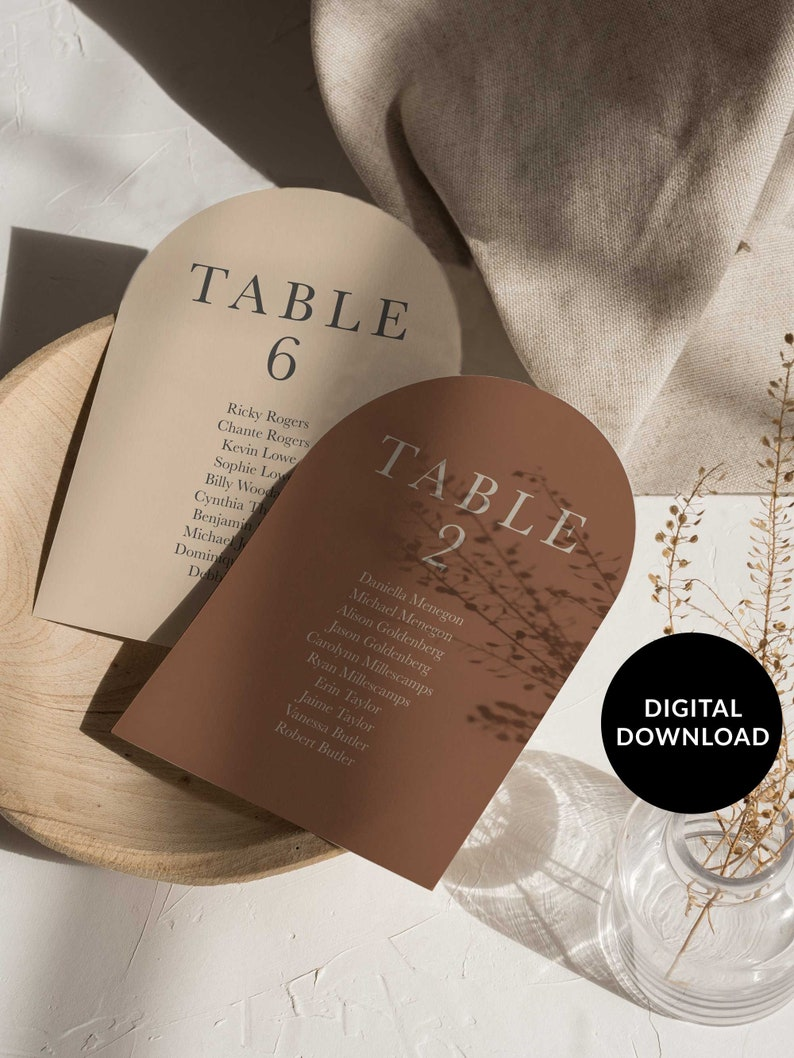 Boho Arch Wedding Table Plan Minimal Blush Wedding Table Plan image 0