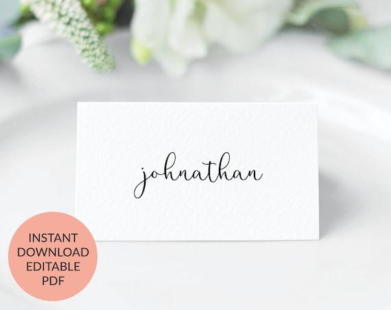 Digital Download, Escort Cards Place Cards Wedding Name Cards Wedding Place Card Template