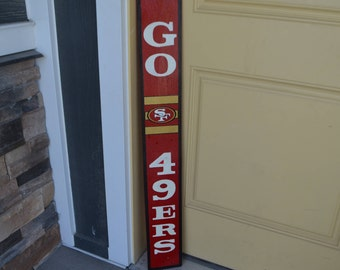 Go 49ers Wood Sign