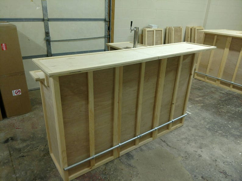 Home Bar Furniture 96x24x42 36 Side Extension Etsy