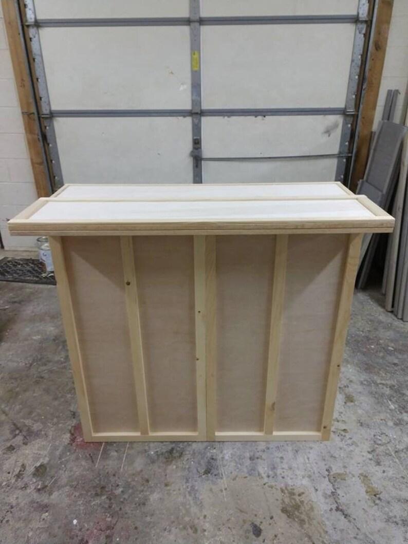 Home Bar Furniture 48x24x42 3 Shelves Cabinet Refrigerator Etsy