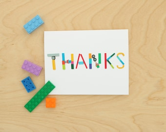Lego Thank You Card ~ Note Card ~