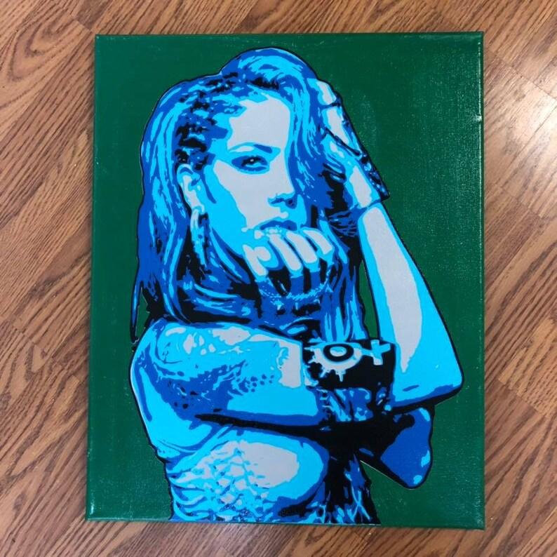 Handmade Arch Enemy Alissa White Gluz Canvas Wall Art Etsy