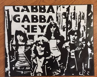 Handmade Ramones Canvas Wall Art
