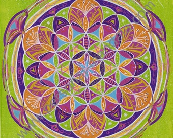 "Mandala ""Flower of life"" (canvas print)"