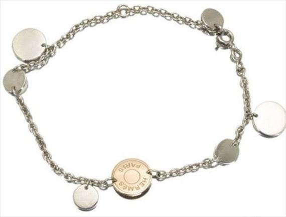 Hermes Confettis Sellier Bracelet Silver Pink Gold SV925 K18   Etsy 7138b234b18
