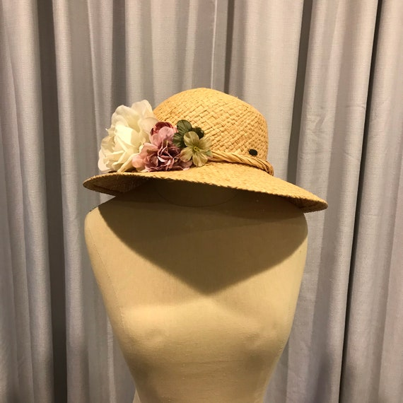 Scala Straw Floral Hat