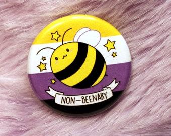 Non-Beenary Pun Badges (32mm)