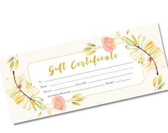 Spring Gift Certificate, gift certificate template, Gift Certificate Printable,Gift Certificate,Gift Certificate Download,gift,instant gift