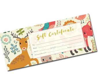 birthday gift certificate, Gift Certificate Template, Gift Certificate Printable, Gift Certificate, Gift Certificate Download,birthday gift