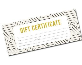Geometric Gift Certificate, gift certificate template, Gift Certificate Printable,Gift Certificate,Gift Certificate Download,gift,modern