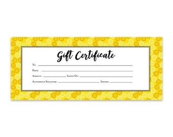 gold glitter confetti gold circle gift certificate etsy
