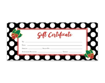 gold snowflake stripes christmas gift certificate etsy