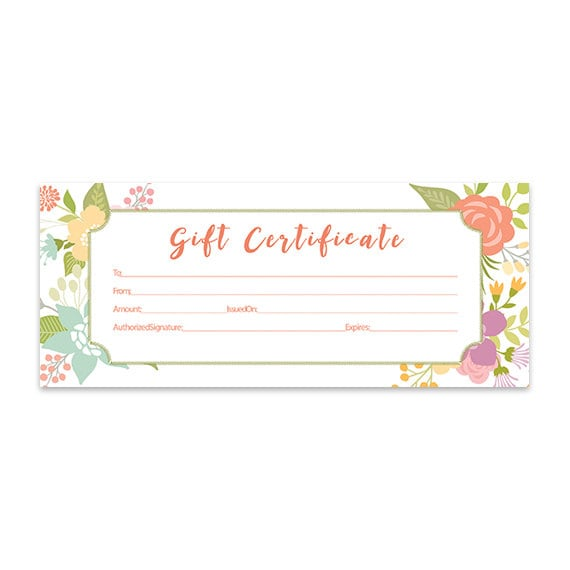 Buffalo Plaid Christmas Blank Gift Certificate Gift Etsy