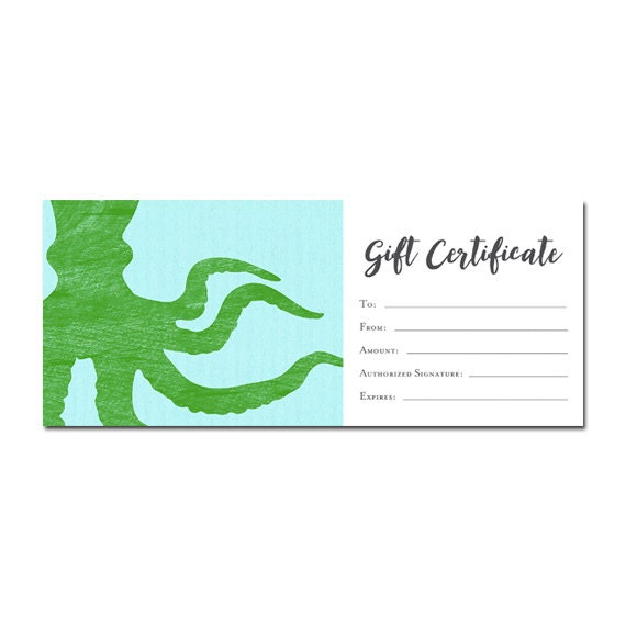 pink gold banner gift certificate download premade gift etsy