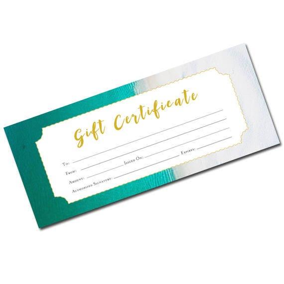 beach gift certificate beach blank gift certificate gift certificate template printable blank gift certificate torquoise