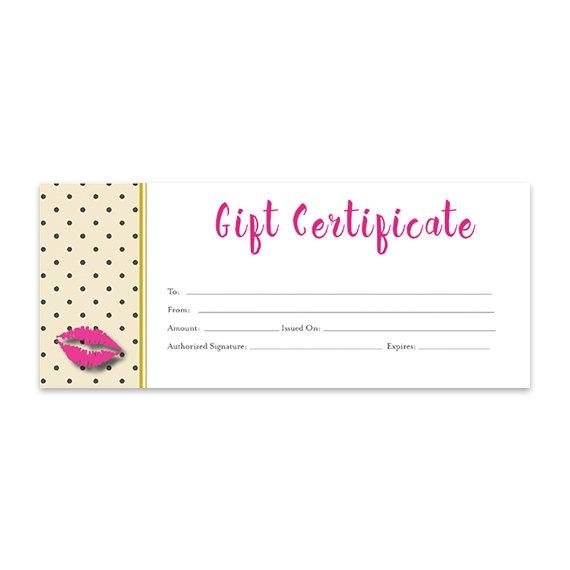 Lips Lipsense Pink Lips Blank Gift Certificate Download Etsy