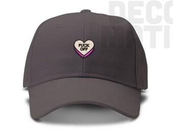 3e57e0d0223 Fuck Off Sweet Tart Candy Low Profile Cotton Dad hat - Sweettart sweetheart  - Baseball Cap