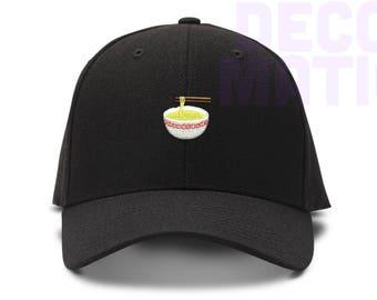 9ef287f8a546d Ramen Noodle Bowl Emoji Low Profile Cotton Dad hat - Baseball Cap