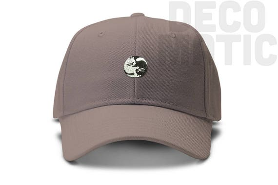 Yin Yang Dog and Cat Adjustable Dad Cap Baseball Hat